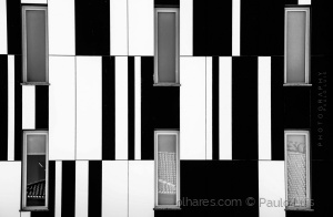 /Six windows on the piano (B&W)