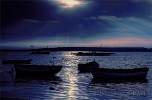 /Pôr do sol na Lagoa de Albufeira