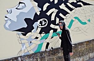 /Assim nasce um graffiti: Jacqueline de Montaigne