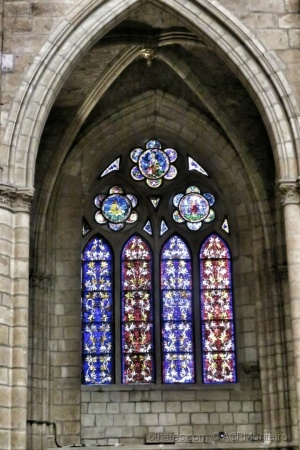 /A janela colorida.