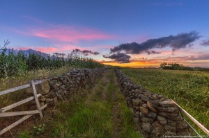 Paisagem Natural/Final de dia na ilha Terceira, Açores.