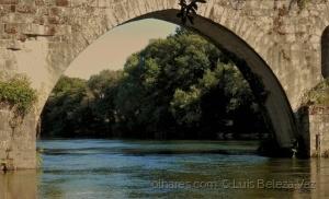 Paisagem Natural/Rio Cávado e Ponte do Porto