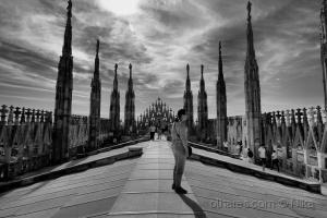 /nas agulhas do gótico-Catedral de Milão