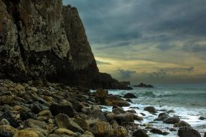 Paisagem Natural/a falésia e o mar ...