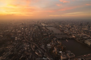 /Hazy London sunsets