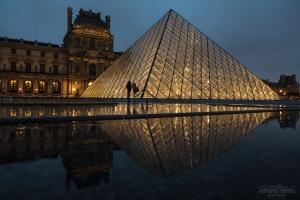 Paisagem Urbana/Louvre e a Chuva - França, Paris
