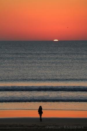 /Extasiados com o Mar e o Por do Sol