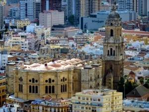 /Vista aérea da Catedral de Málaga