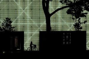 Paisagem Urbana/Ciclista sobre Dior