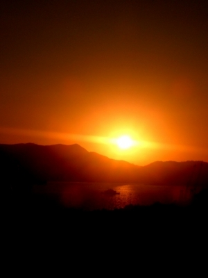 /Por do sol em setubal