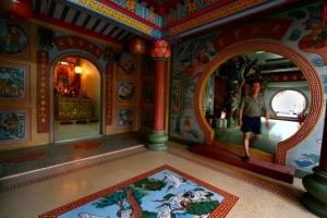 Gentes e Locais/Templo chines em Surat Thani  - Tailandia