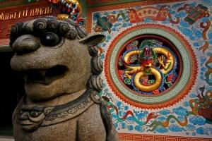 /Templo chines em Surat Thani  - Tailandia