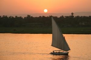 /Por do Sol no Rio Nilo Luxor