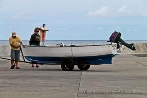 /O barco gaivota em terra...........