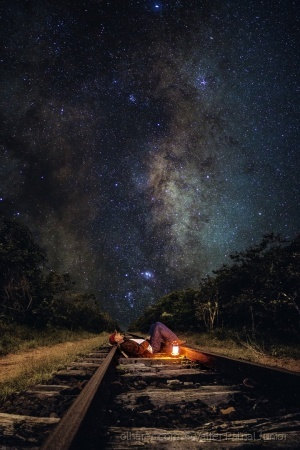 /Railroad and Milky Way