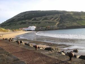 /Praia do Porto Pim com vista para o Monta da Guia