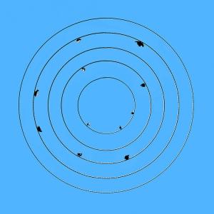/Pousados em círculos