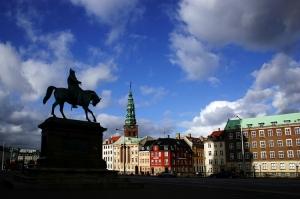 /Copenhaga em tons de azul
