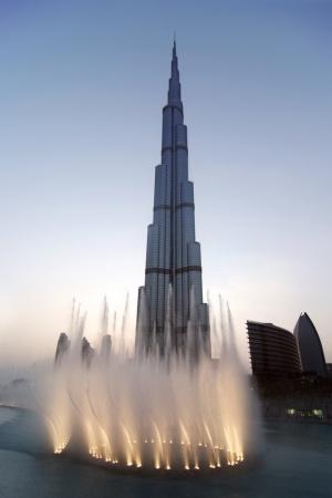 Paisagem Urbana/A dança da água no Burj Khalifa