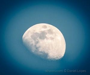 /Lua ontem no fim da tarde