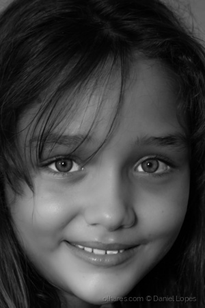 Retratos/O brilho nos olhos da Kaila
