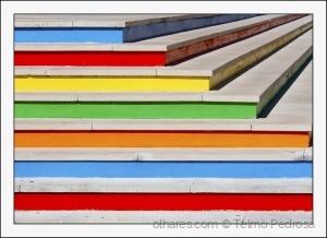 Abstrato/Uma escada colorida