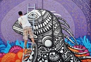 Paisagem Urbana/Assim nasce um graffiti...
