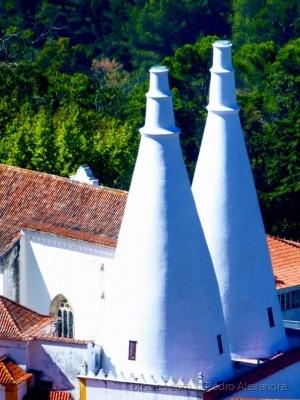 História/Chaminés do Palácio Nacional de Sintra
