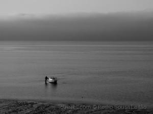 /A pausa do pescador do rio sem fim
