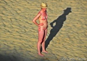 /A sombra na areia!