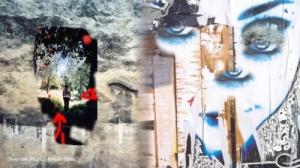 /A minha infância- rio na parede da cidade