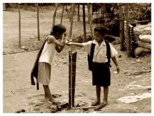 /thai children in village karen