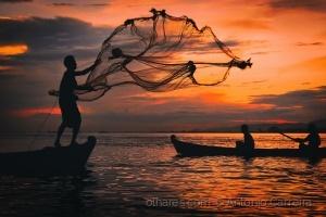 /O pescador do fim de dia