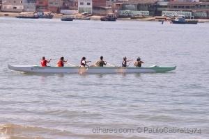 Outros/grupo de canoagem em santos