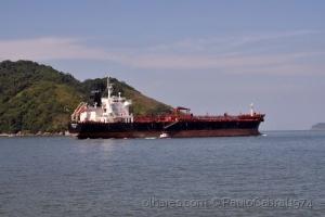 Outros/navio cargueiro saindo de Santos litoral