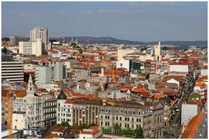 /A cidade vista de cima