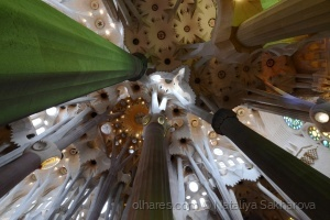 /Sob a cúpula de Sagrada Familia
