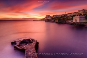 Paisagem Urbana/Pôr-do-sol avermelhado