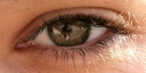 /Her eye