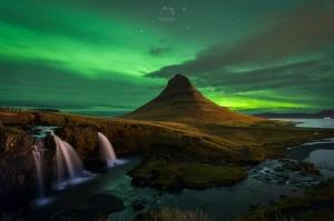 /Under northern lights
