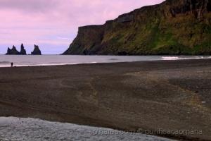 /O pôr do sol na praia de areia negra!!