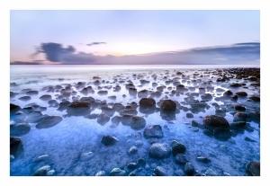 Paisagem Natural/Pedras pretas em azul marinho