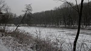 /o rio congelou