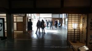 /Sombras em um templo no Japão