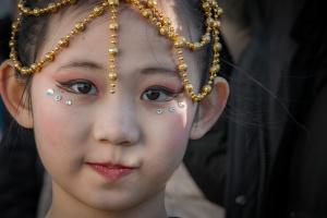 Retratos/rosto do ano novo chinês