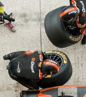 /A perspective of changing tires at 24h Le Mans
