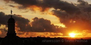 /Pôr-do-sol em Coimbra