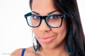 Retratos/Os óculos azuis