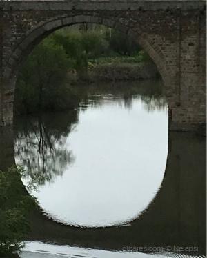 Paisagem Natural/Espelho em círculo