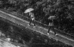 /Na contra-mão da chuva...